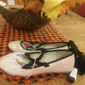 Girls soft rose pink ballerina dress shoe